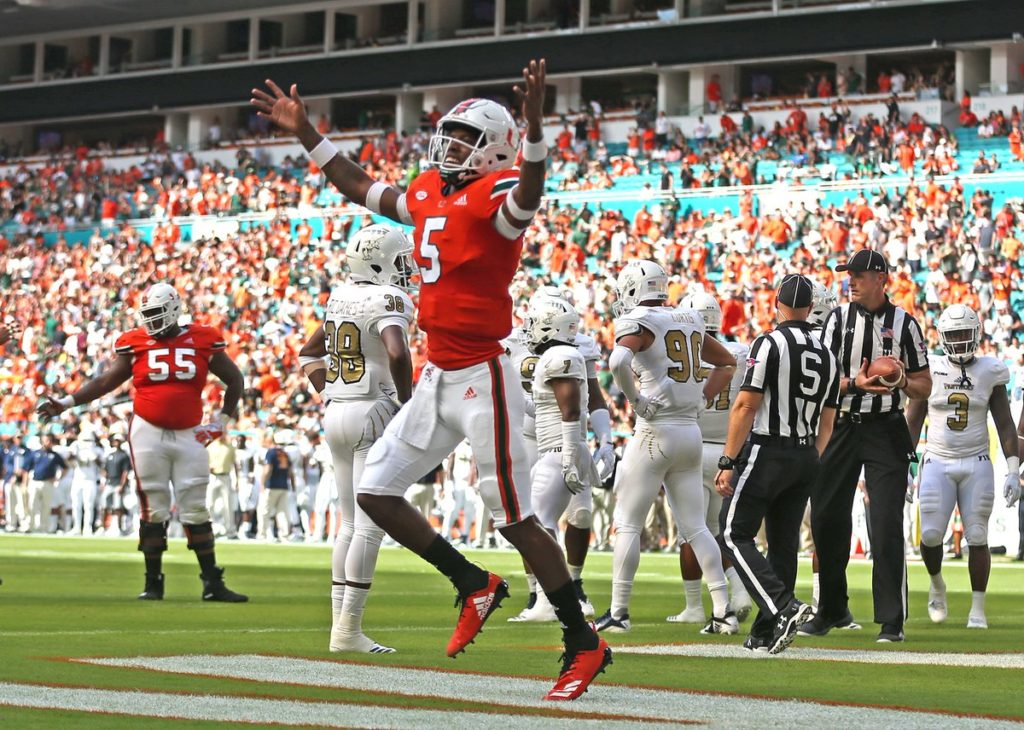 Miami Hurricanes Down Fiu Panthers In Battle Of Dade County Miami